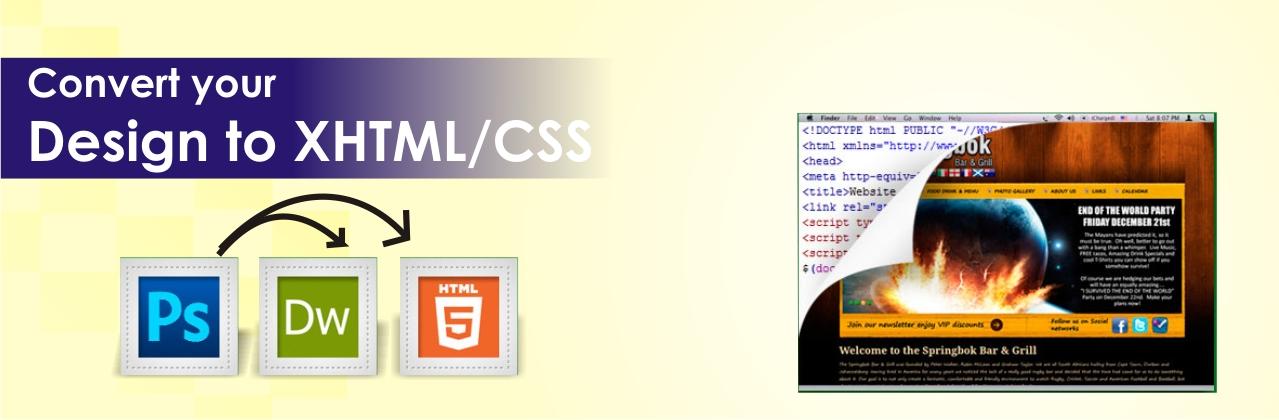 Convert PSD to HTML, CSS, WordPress, Magento Uk